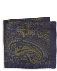 Paisley print silk pocket square medium 748600