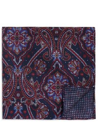 The Store At Bloomingdales Double Sided Paisley Houndstooth Pocket Square