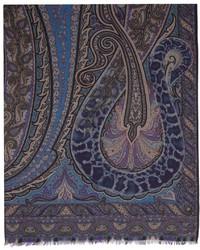 Etro Multicolor Cashmere Graphic Scarf