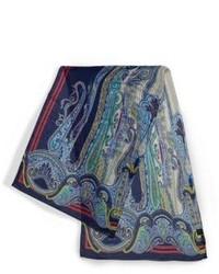 Paisley printed silk blend scarf medium 3668979
