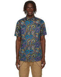 Etro Blue Paisley Print Shirt