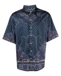 Etro Paisley Print Short Sleeve Shirt
