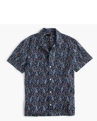 J.Crew Short Sleeve Camp Collar Shirt In Paisley