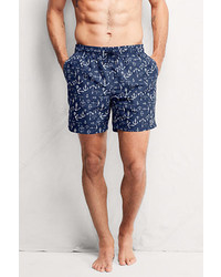 Classic 6 Volley Swim Trunks Whitedeep Sea Stripe3x