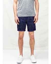 Mango Outlet Grosgrain Trim Printed Bermuda Shorts