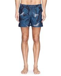 Nobrand Paisley Moth Print Taffeta Swim Shorts