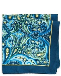 Ted Baker London Pitcairn Paisley Silk Pocket Square
