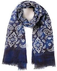 Isaia paisley print scarf medium 160571