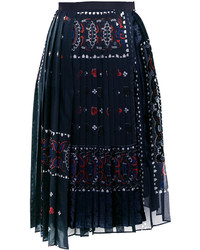 Sacai Paisley Devor Effect Skirt