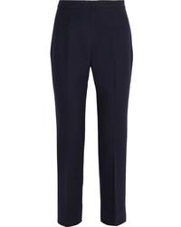 Prada Wool Blend Slim Leg Pants Navy