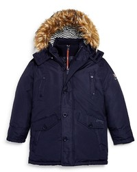 Ben Sherman Boys Faux Fur Trim Parka Sizes 4t 7