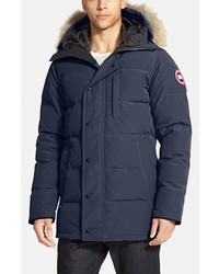 Carson slim fit hooded packable parka with genuine coyote fur trim medium 387229