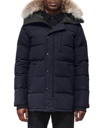 Canada Goose Carson Slim Fit Hooded Packable Parka With Genuine Coyote