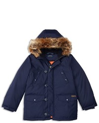 Ralph Lauren Childrenswear Boys Faux Fur Trimmed Down Parka Sizes S Xl