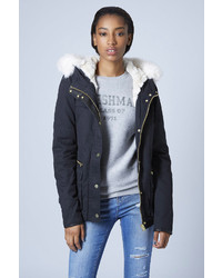 Topshop Faux Fur Lined Short Parka Jacket | Where to buy & how to wear