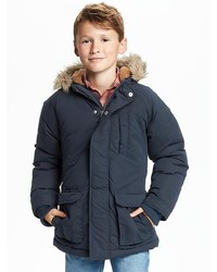 Old Navy Faux Fur Trim Hooded Parka For Boys