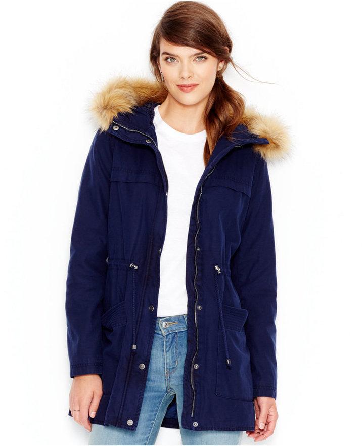 d2defa760abc5 ... Levi s Faux Fur Trim Hooded Parka Jacket ...