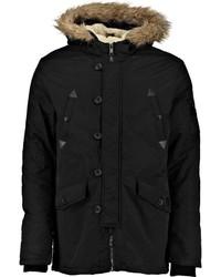 Four pocket parka with chunky faux fur hood