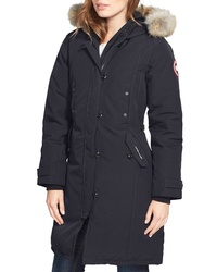 Canada Goose Kensington Slim Fit Down Parka With Genuine Coyote