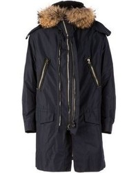 Lanvin Raccoon Fur Trim Parka