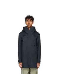 Ten C Navy Cyclone Parka Coat