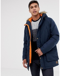 Jack & Jones Parka Jacket With Faux Fur Hood