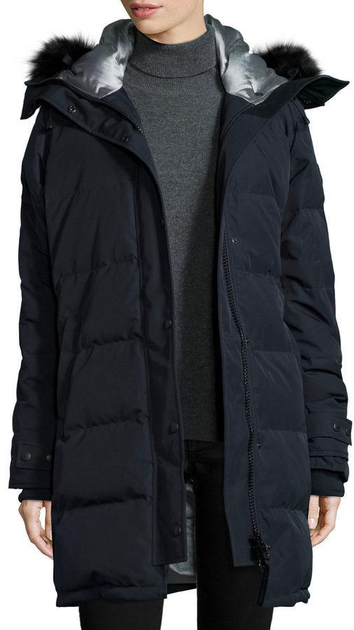 canada goose black fur hood