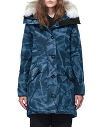Canada Goose Rossclair Fusion Fit Genuine Coyote Down Parka