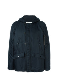 Saint Laurent Short Bomber Parka Blue