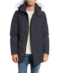 Moose Knuckles Stirling Water Repellent Down Parka With Genuine Fox