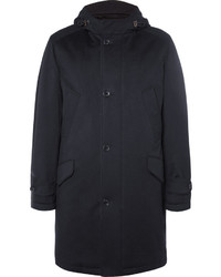 Loro Piana Suede Trimmed Storm System Cashmere Parka