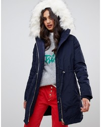 Miss Selfridge Three In One Parka In Navy