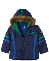 Toddler Boy Rothschild Fleece Lined Stripe Parka
