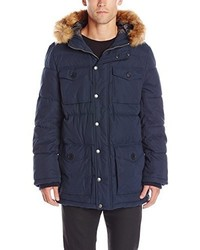 Tommy Hilfiger Micro Twill Full Length Hooded Parka Coat