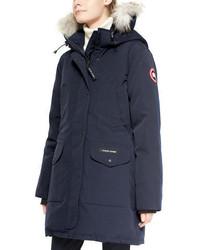 Trillium fur hood parka jacket medium 739721