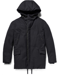 Lanvin Wool And Cotton Blend Down Hooded Parka