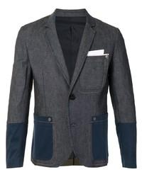 Neil Barrett Patchwork Detail Fitted Blazer