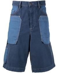 Diesel Joggjeans Patchwork Denim Shorts