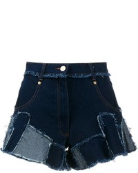 Natasha Zinko Patchwork Denim Shorts