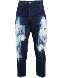 Navy Patchwork Jeans