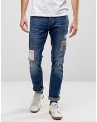 Blend of America Blend Patchwork Twister Slim Jeans