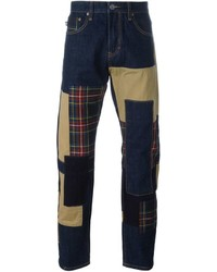 Mostly Heard Rarely Seen Patchwork Slim Jeans