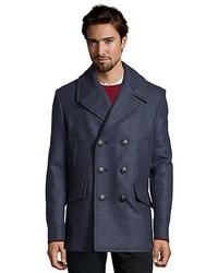 Gucci Blue Wool Double Breasted Peacoat