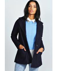 Boohoo Diana Wool Look Swing Pea Coat