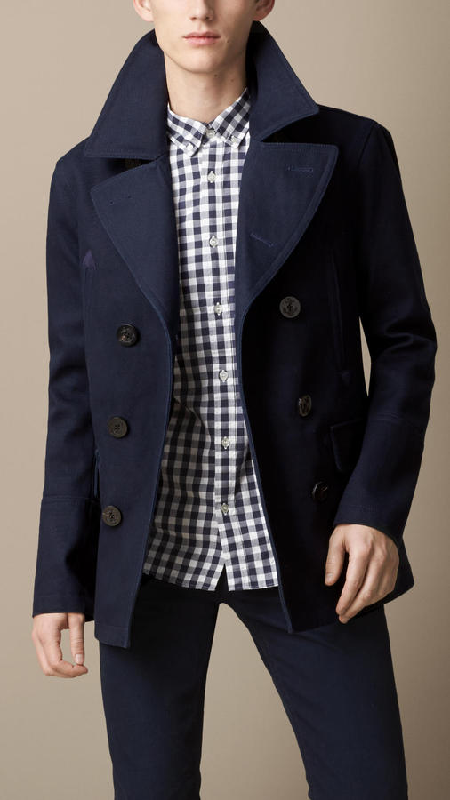 Burberry Bonded Cotton Twill Pea Coat | Where to buy & how to wear