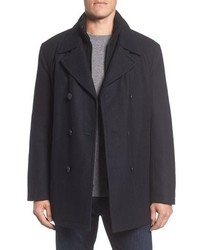 Marc New York Burnett Peacoat With Rib Knit Bib