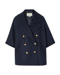 Gucci Cape Effect Double Breasted Wool Blend Felt Coat