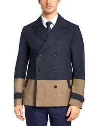 Hugo Boss Chion Cotton Colorblocked Pea Coat