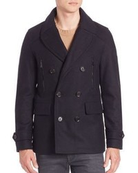 Belstaff Corringham Virgin Wool Blend Peacoat