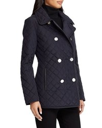 Lauren Ralph Lauren Double Breasted Quilted Coat